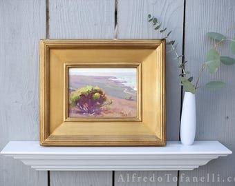 Plein Air painting of California Coast | Original Painting | Landscape | Impressionist oil painting | Colorful painting | Coastal Trail