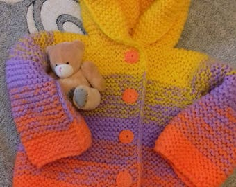 Children's cardigan with a hood