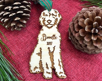 Personalized Goldendoodle Christmas Ornament - Personalized Labradoodle Christmas Ornament - Custom Pet Ornaments Designed just for you!