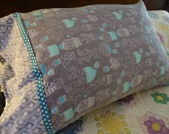 Succulent Flannel Pillowcase