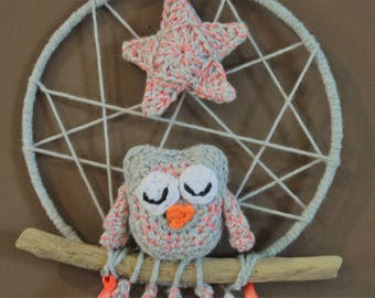 Owl dream catcher etsy - Attrape reve crochet ...
