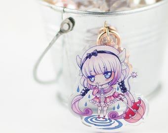 Kanna - Miss Kobayashi's Dragon Maid Double-Sided Glitter Acrylic Charm