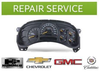 Instrument Cluster Repair Service. GMC, Chevrolet, Cadillac Escalade, Hummer H2, 2003-07 models.