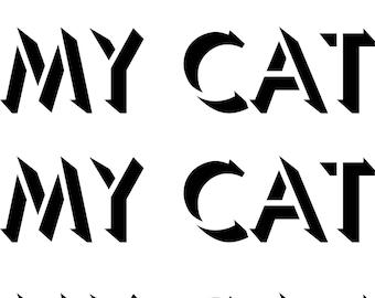 Digital Print Wall Art My Cat