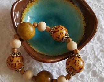 rare vintage beads from antique shop, handmade bracelet