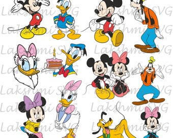 Mickey mouse svg files,Disney SVG Bundle,  Minnie mouse svg, Donald duck svg,pluto svg, kids svg,birthday svg files,dxf,png,eps