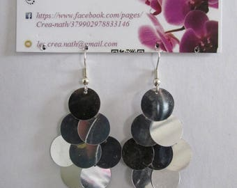 type silver cluster earring