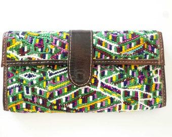 leather & textile wallet