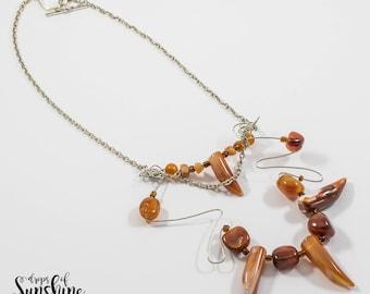 Honey drops necklace