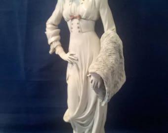 Beautiful signed ARMANI porcelain figureine-classic 20's