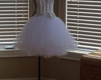 White toddler dress - Flower girl dress