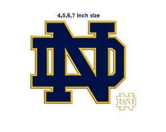 Notre Dame Applique Design - 4,5,6,7 sizes instant download