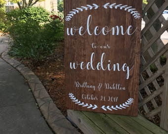 Welcome To Our Wedding Customizable Sign