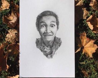 Monochrome Custom Portrait / Custom Portrait Drawing / Custom Portrait / Pencil Portrait Drawing/  Birthday Gift