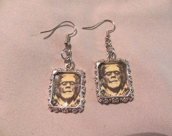 Frankenstein's Monster Portrait earrings