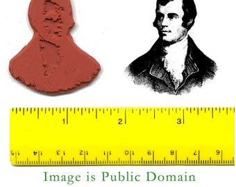 Robert Burns Scottish Poet Unmounted Rubber Stamp