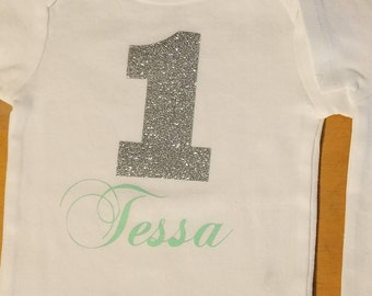 Customizable 1st Birthday Onesie