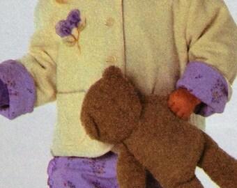 Burda #9829 Sewing Pattern, Toddler Dress, Pants, Jacket, Skirt Shirt, Size 9 mos-3, OOP