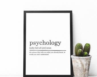 Psychology Definition Print, Psychologist gift, Funny Definition Print, Gift for Psychologist, Psychologist Appreciation, DIGITAL DOWNLOAD