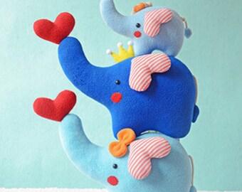 DIY Kit Elephant Family Fabric Doll Animal