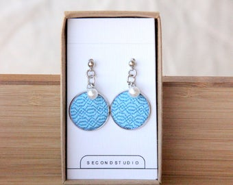 embroidered earrings which is made by heart . It is the best gift for everyone!