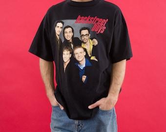 Boy Band, Backstreet Boys, Nick Carter, 90s Vintage, 90s Music, Backstreets Back, Pop Music, Concert, Tour, Black Band Tshirt, 90s Pop Music