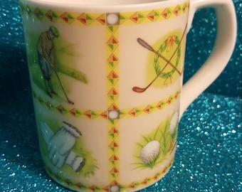 Golf Coffee Mug, Expressions By Valerie Greeley, Royal Doulton