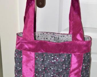 Gray Fuchsia handbag