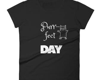Cat Lover, gift, birthday, christmas, Women's short sleeve t-shirt Funny Cat Tee, Women's Funny Cat Shirt