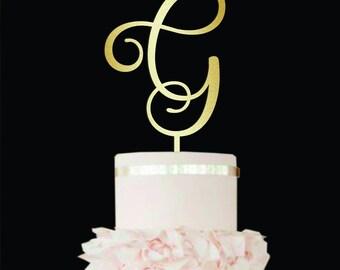 Letter G Cake Topper wood Custom Wedding Cake Topper Unique Cake Topper Letter N Initial Cake Topper Personalised Single Letter rustic cake
