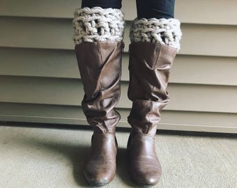 Chunky Wool Boot Cuffs