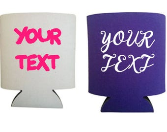 Custom Coolers//Birthday Party Favors//Wedding Favors//Can Coolers//Beverage Insulators//Personalized Wedding Favors