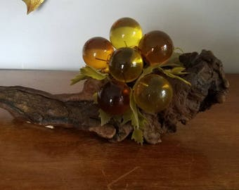 Mid Century Grapes, Grapes On Driftwood