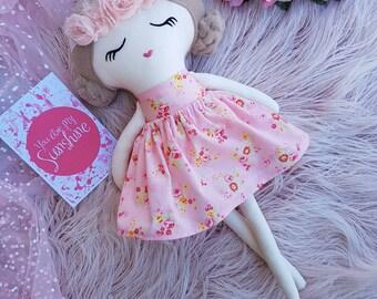 Handmade Cloth Doll, Rag Doll, Keepsake Doll, Heirloom 45cm