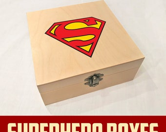 Superman Superhero Wooden Box