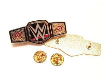 WWE WWF ECW Enamel Pin - World Heavyweight Champion Belt - Wrestling Hasbro - Lapel Enamel Metal Pin Badge