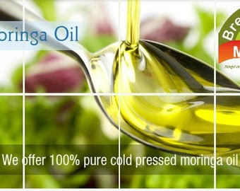100% First Cold Pressed Moringa Seed Oil -  50 Percent of Profit Feeds the Poor