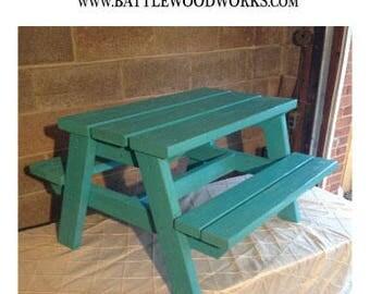 kids wood picnic table local pickup