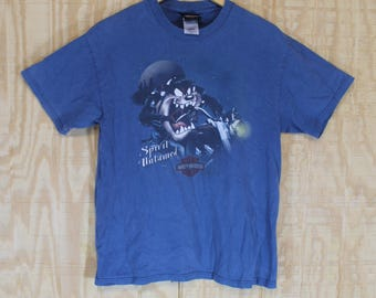 Vintage 1980's 90's Harley Davidson Taz Looney Tunes TAKU Juneau Alaska T Shirt Tshirt Tee Small Medium S / M