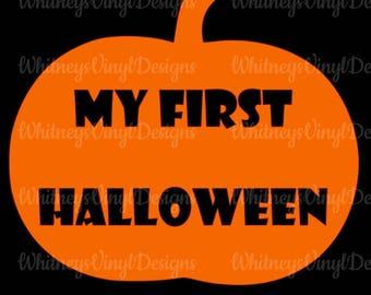 babyu0027s first halloween my first halloween heat transfer vinyl shirt matter or glitter