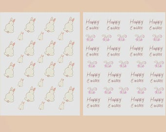 """Pastel Watercolour  Easter stickers/printable stickers/planner stickers/scrap booking stickers/2 sheets/8.5""""x11"""" (US Letter)"""