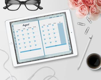 Realistic Blue Digital Planner