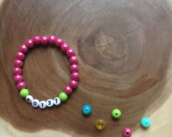 Kids Bracelet, Stretch Bracelet, Stacking Bracelet, Kids Jewelry, Zip Code Kids Bracelet, Birthday Gift, Gift Idea, Children's Jewelry