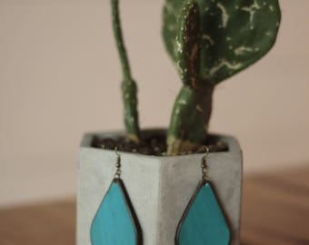 Sierra Turquoise Earrings | Leather Earrings | Birthday Gift | Anniversary | Gifts under 25 | Handmade | Gifts for Her