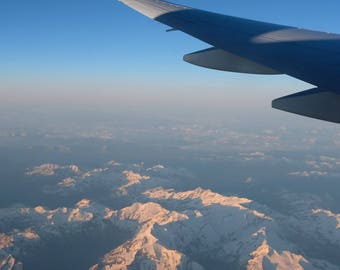 Photograph of the Swiss Alps from the plane