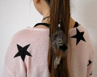 Extension plumes pour cheveux  ' Zen attitude '