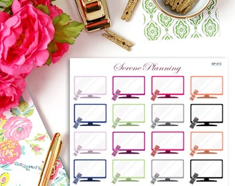 Television Planner Stickers SP-013