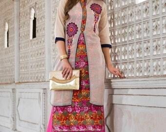 "INDIAN KURTI / KURTA |  Kurti/ Kurta/ Tunic/ Top/ Blouse, Size L(39""),  Festive Wear,  Party Wear, Ethnic, Chic, Indian Ethnic wear"