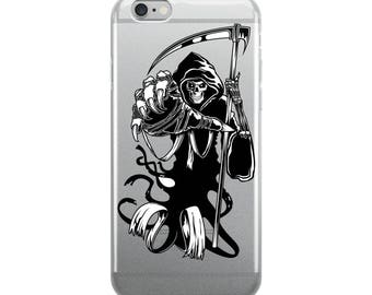 Grim Reaper Of Death Scary Halloween Reaper iPhone 5/5s/Se, 6/6s, 6/6s Plus Case