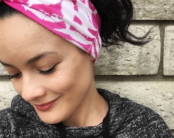 Vintage Pink Palm Turban Headband